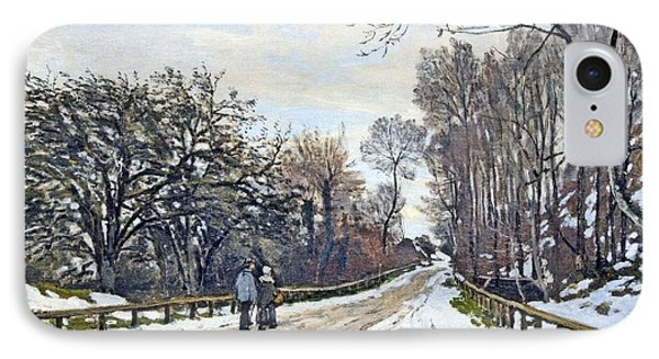The Road To The Farm Of St. Simeon IPhone Case by Monet