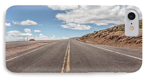 IPhone Case featuring the photograph The Road Up Pikes Peak At Around 12,000 Feet by Peter Ciro