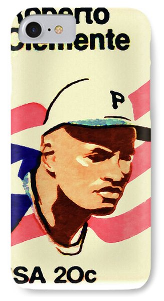 The Roberto Clemente  Phone Case by Lanjee Chee