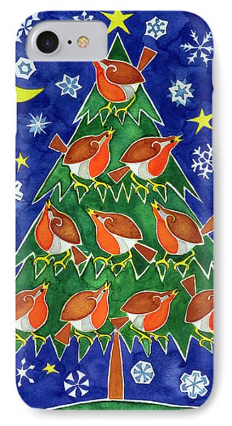 The Robins Chorus IPhone Case by Cathy Baxter