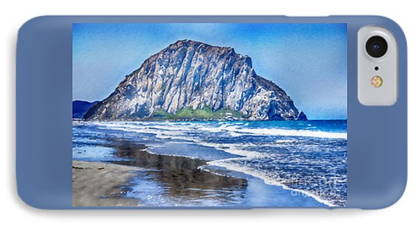 The Rock At Morro Bay Large Canvas Art, Canvas Print, Large Art, Large Wall Decor, Home Decor, Photo IPhone Case by David Millenheft