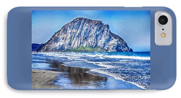 The Rock At Morro Bay Large Canvas Art, Canvas Print, Large Art, Large Wall Decor, Home Decor, Photo IPhone Case