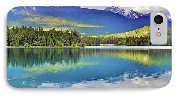 IPhone Case featuring the photograph The Rockies Reflected In Lake Annette by Tara Turner
