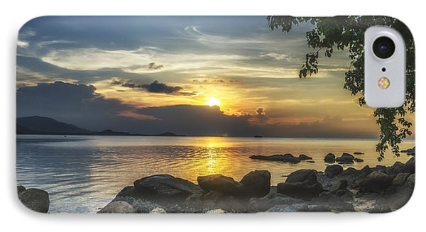 The Rocks At Dusk IPhone Case by Michelle Meenawong