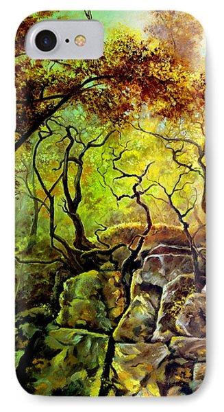 The Rocks In Starachowice IPhone Case by Henryk Gorecki