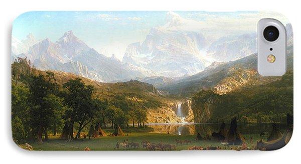 The Rocky Mountains, Lander's Peak, C. 1863 IPhone Case by Albert Bierstadt