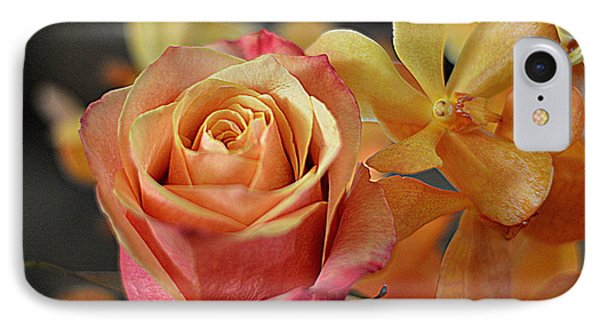 IPhone Case featuring the photograph The Rose And The Orchid by Diana Mary Sharpton