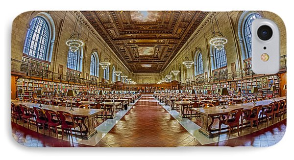 The Rose Main Reading Room Nypl Phone Case by Susan Candelario