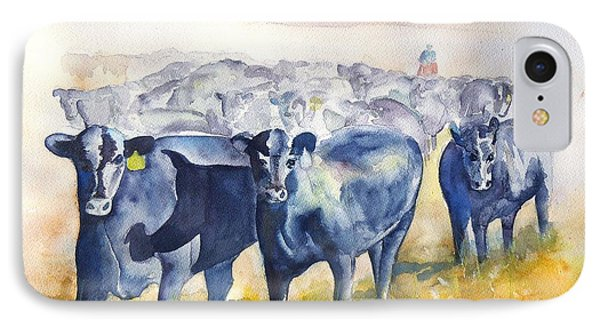The Round Up Cattle Drive  IPhone Case by Sharon Mick