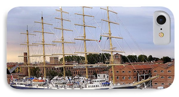 The Royal Clipper Docked In Venice Italy IPhone Case