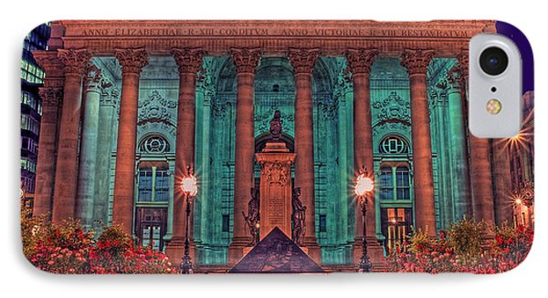 The Royal Exchange In The City London Phone Case by Chris Smith