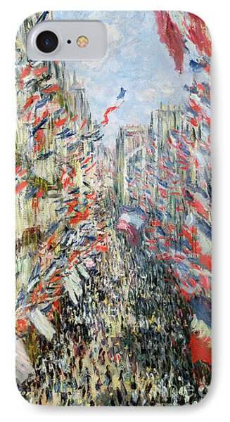 The Rue Montorgueil Phone Case by Claude Monet