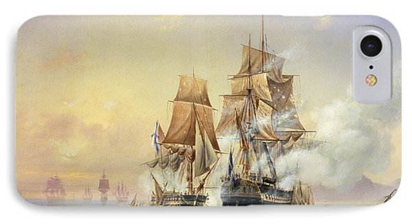 The Russian Cutter Mercury Captures The Swedish Frigate Venus On 21st May 1789 IPhone Case by Aleksei Petrovich Bogolyubov