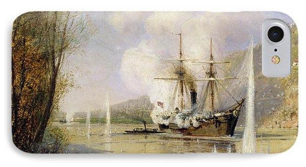 The Russian Destroyer Shutka Attacking A Turkish Ship On The 16th June 1877 IPhone Case