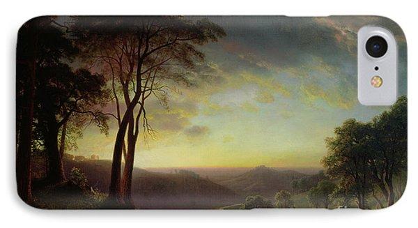 The Sacramento River Valley  IPhone Case by Albert Bierstadt