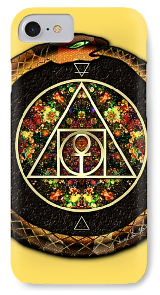 The Sacred Alchemy Of Life IPhone Case by Iowan Stone-Flowers
