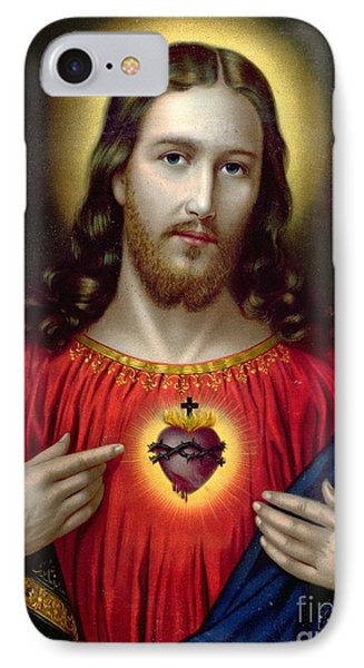 The Sacred Heart Of Jesus IPhone Case by English School