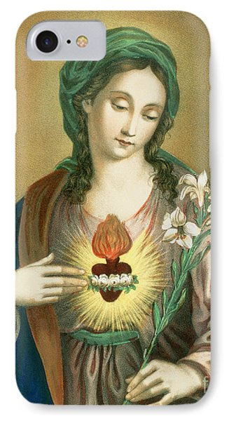 The Sacred Heart Of Mary IPhone Case by German School
