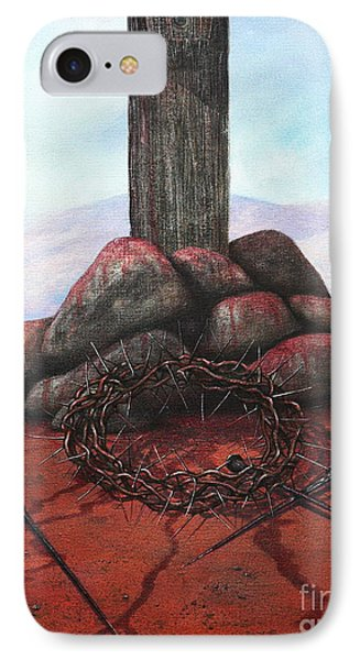 The Sacrifice Of His Love Phone Case by Michael Nowak