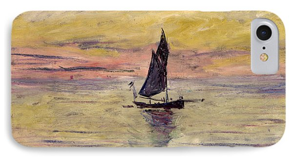 The Sailing Boat Evening Effect IPhone Case by Claude Monet