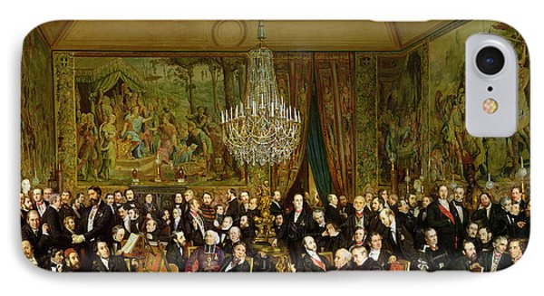 The Salon Of Alfred Emilien At The Louvre IPhone Case by Francois Auguste Biard