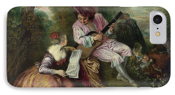 The Scale Of Love Phone Case by Jean-Antoine Watteau
