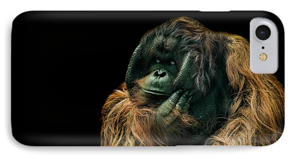 Ape iPhone 7 Case - The Sceptic by Paul Neville