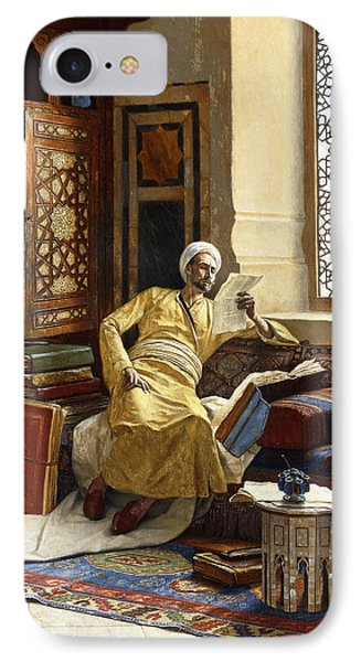 The Scholar IPhone Case by Ludwig Deutsch