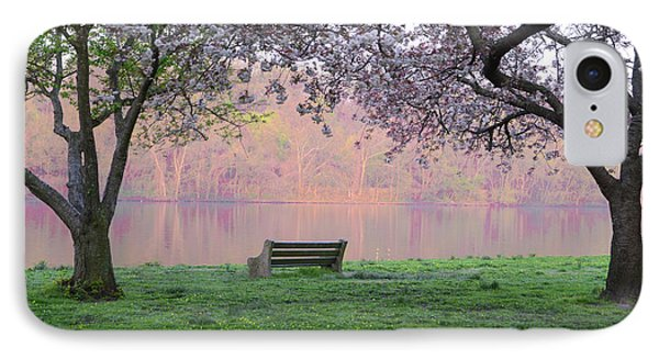 The Schuykill River At Kelly Drive In The Spring IPhone Case