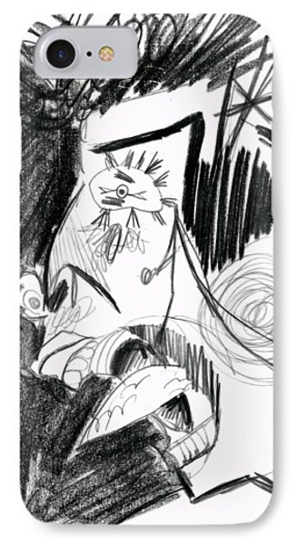 The Scream - Picasso Study Phone Case by Michelle Calkins