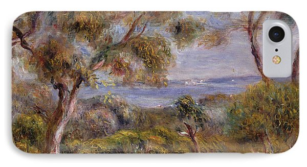The Sea At Cagnes Phone Case by Pierre Auguste Renoir