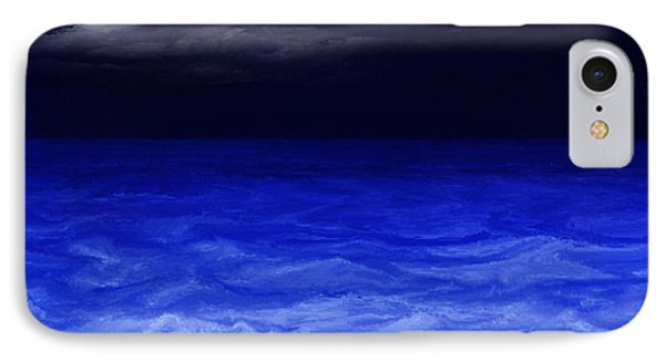 The Sea At Night Phone Case by Gina Lee Manley
