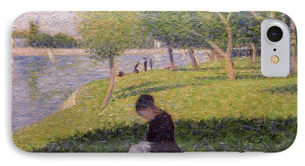The Seamstress Or Sunday At The Grande Jatte IPhone Case by Georges Pierre Seurat