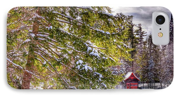 IPhone 7 Case featuring the photograph The Secluded Boathouse by David Patterson