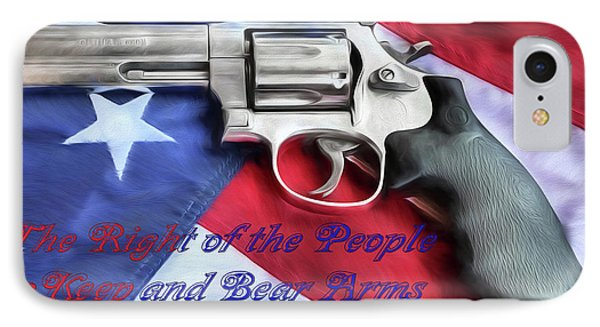 IPhone 7 Case featuring the digital art The Second Amendment by JC Findley