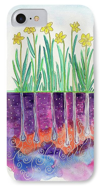 The Secret Life Of Daffodils IPhone Case by Bonnie Kelso