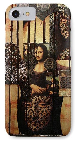 The Secrets Of Mona Lisa Phone Case by Michael Kulick