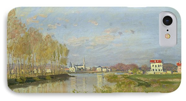 The Seine At Argenteuil Phone Case by Claude Monet
