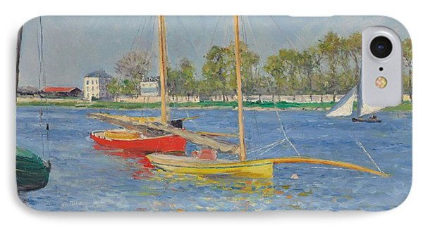 The Seine At Argenteuil IPhone Case by Gustave Caillebotte
