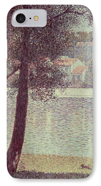 The Seine At Courbevoie IPhone Case by Georges Pierre Seurat