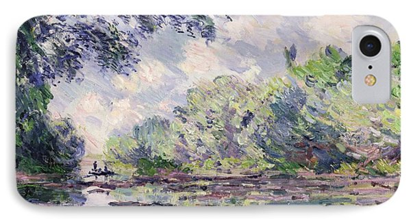 The Seine At Giverny IPhone Case by Claude Monet