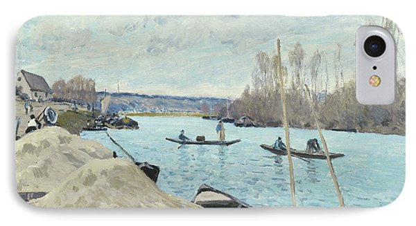 The Seine At Port Marly, Piles Of Sand IPhone Case