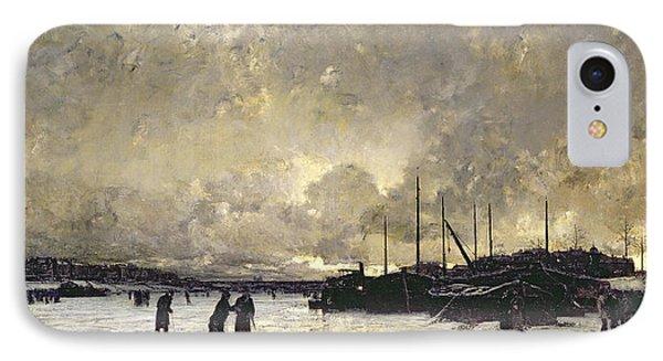 The Seine In December IPhone Case by Luigi Loir