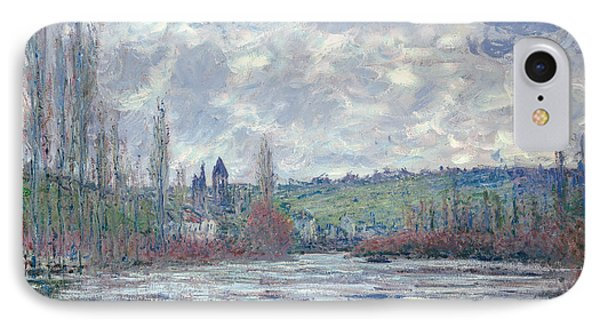 The Seine In Flood At Vetheuil IPhone Case