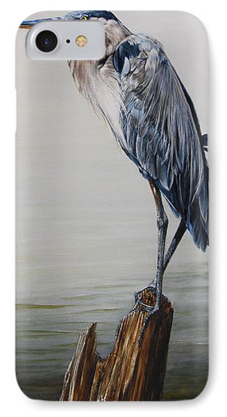 The Sentinel - Portrait Of A Great Blue Heron IPhone Case by Rob Dreyer