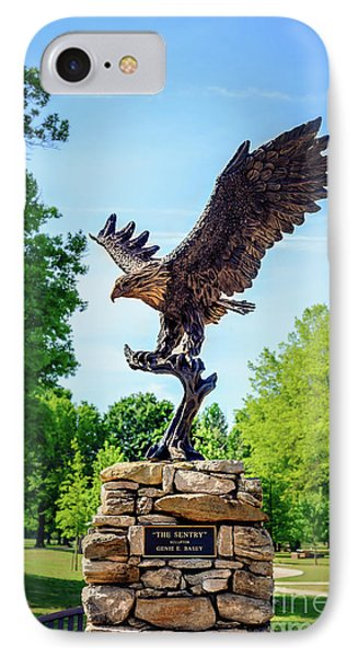 The Sentry At Honor Heights Park IPhone Case by Tamyra Ayles