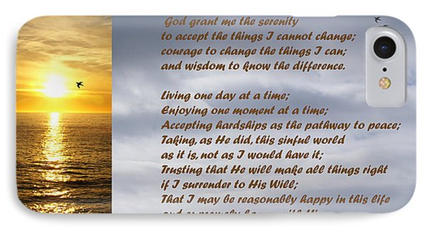 The Serenity Prayer Phone Case by Barbara Snyder