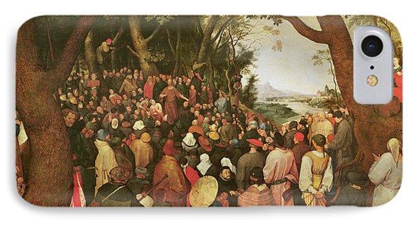 The Sermon Of Saint John The Baptist IPhone Case by Pieter the elder Bruegel
