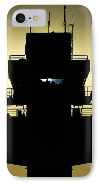 The Setting Sun Silhouettes An Air Phone Case by Stocktrek Images