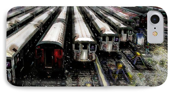 The Seven Train Yard Queens Ny IPhone Case by Iowan Stone-Flowers